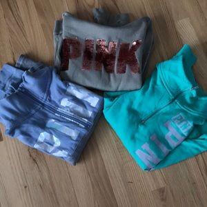 Victoria's Secret pink sweatshirt lot S XS